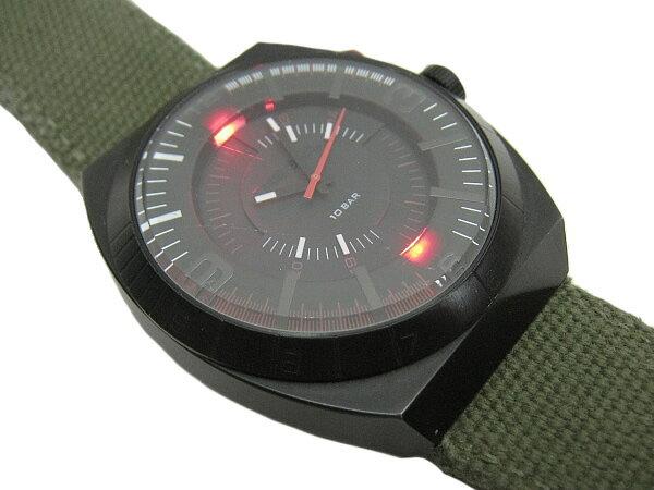 :ディーゼル メンズ 腕時計 DIESEL クォーツ 時計DZ1412 キャンバスベルト カジュアル オールブラック【中古】