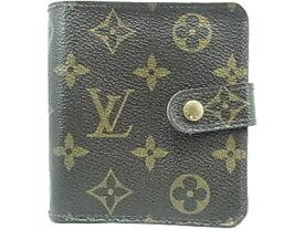 ルイヴィトン モノグラム コンパクト ジップ カード用ポケット ファスナー付き財布 Louis Vuitton M61667 【中古】