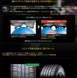DUNLOPDIREZZADZ102215/55R16(ダンロップディレッツァDZ102)国産新品タイヤ2本価格