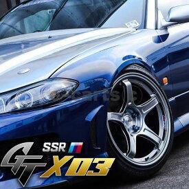 送料無料 SSR GT X03 215/40R18 TOYO ナノエナジー3+ 4本SET 軽量 FFT-R ヴィッツ カルディナ