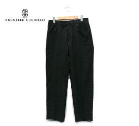 【BRUNELLO CUCINELLI】ブルネロクチネリ バージンウール スラックス パンツ サイズ48【中古】