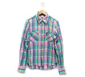 【M】エム マドラスチェック ロングスリーブ シャツ Sサイズ 日本製 【中古】