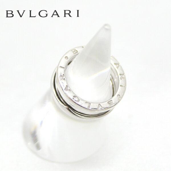 【BVLGARI】B-ZERO1 ブルガリ ビーゼロワン ネックレストップ リング K18WG 18金ホワイトゴールド サイズ10号 箱付 【中古】
