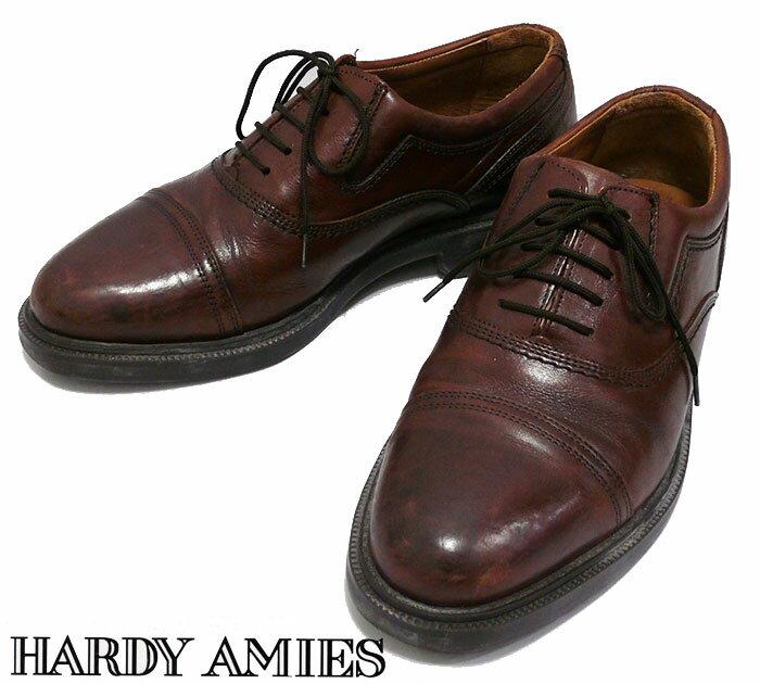 【ハーディエイミス】HARDY AMIES レザーシューズ 26cm 革 ブラウン 【中古】