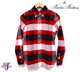 【Brooks Brothers】ブルックス ブラザーズ BLACKFLEECE ブラックフリース チェックシャツ レディース ボタンダウン L/Sシャツ BB2 米国製 ON1433【中古】