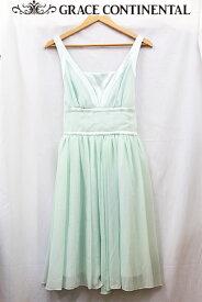 【GRACE CONTINENTAL】グレースコンチネンタル クレープギャザー ドレス ワンピース 36 美品【中古】