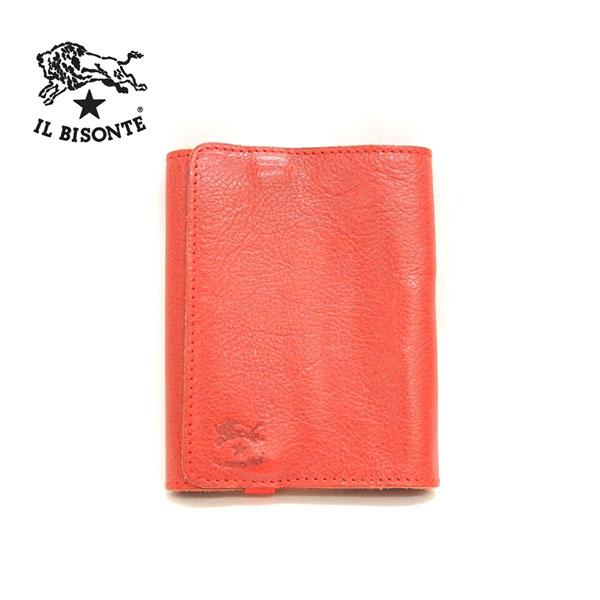 【IL BISONTE】イルビゾンテ RHODIA用 メモケース メモ帳カバー レザー 牛革 レッド 赤 イタリア製【中古】