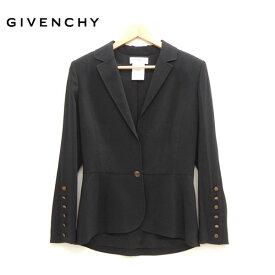 【GIVENCHY】ジバンシイ ジバンシー テーラードジャケット サイズ38 1つボタン ブラック 黒 フランス製【中古】
