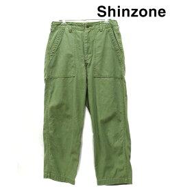 【MIRROR OF Shinzone】ミラーオブシンゾーン ベイカーパンツ カーキ サイズ36 定番 カーゴ オリーブ コットン レディース RM0836【中古】