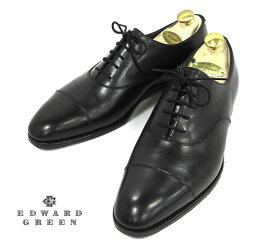 【EDWARD GREEN】エドワードグリーン #82 CHELSEA チェルシー ブラックカーフ サイズ8〜8 1/2D ドレスシューズ ビジネス 紳士靴 イギリス製 メンズ 箱 RM2852【中古】