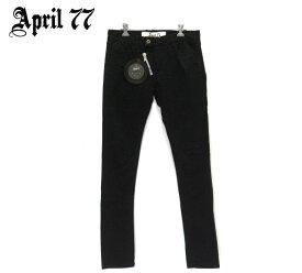 【April77】エイプリル77 JOHNNY HI STANDARD ジョニーハイスタンダード ブラック 黒 モロッコ製 サイズ30 メンズ 男性用 ボトムス RM2918【中古】