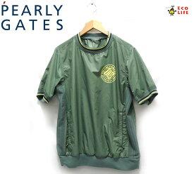 【PEARLY GATES】パーリーゲイツ ショートスリーブプルオーバー トップス サイズ4 カーキー メンズ 男性用 半袖 RC1889【中古】
