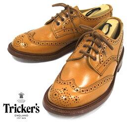 【Tricker's】トリッカーズ カントリーブーツ シューズ #L5633 BOURTON バートン UKモデル ウイングチップ サイズ5F4 革靴 イギリス製 レディース 女性用 ANNE アン L5679 RM2765【中古】