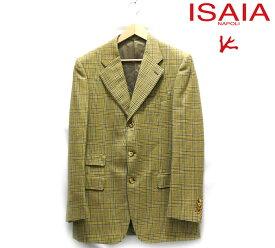 【ISAIA】イザイア イタリア製 サイズ48 グレンチェック シングルジャケット ウール メンズ 男性用 アウター 秋 冬 RC2182【中古】