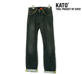 【KATO`】カトー デニム サイズ26 日本製 推定Sサイズ レディース ジーンズ パンツ 未使用 女性用 RC0705【中古】