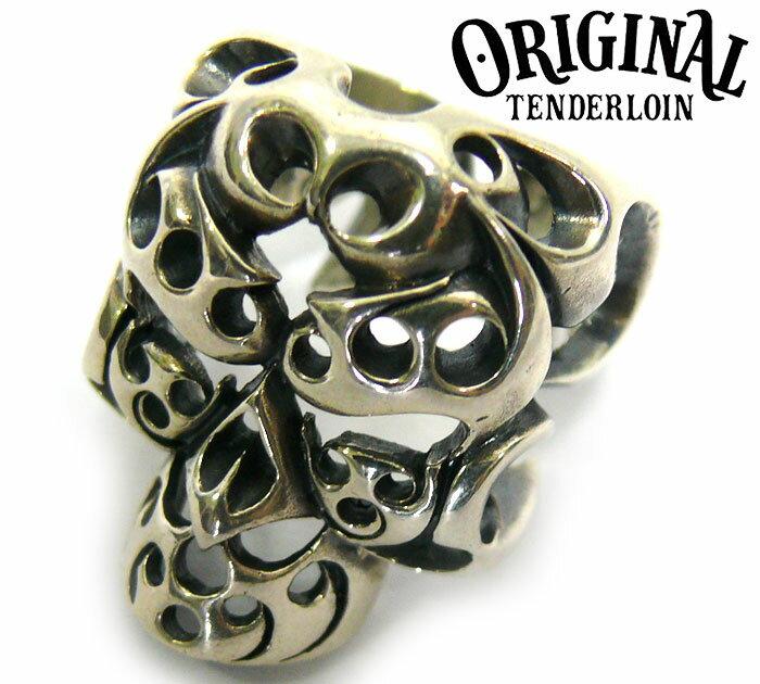 【TENDERLOIN】 テンダーロイン ボルネオ スカル リング 19号 シルバー 指輪 髑髏 RC0737 【中古】