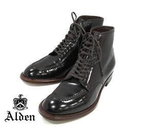 【ALDEN×Conformal shose Store】オールデン×コンフォーマルシューストア別注 D8916H サイズ9C モディファイドラスト シェルコードバン #8 タンカーブーツ 靴 メンズ RM1272 【中古】