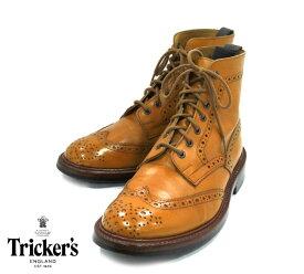 【Tricker's】トリッカーズ #2508 サイズ7 1/2 F5 MALTON ACORN モールトン カントリーブーツ シューズ 革靴 英国製 メンズ 男性用 RM1462 【中古】