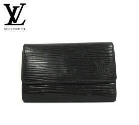 【LOUIS VUITTON】ルイヴィトン エピ ミュルティクレ6 ノワール 6連キーケース ブラック M63812 鍵 小物 服飾品 メンズ レディース RM1966 【中古】