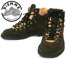 【DIEMME】ディエッメ トレッキングシューズ サイズ40 メンズ 男性用 靴 25cm イタリア製 ブラウン 茶色 スエード マウンテンブーツ タウンユース RC0900【中古】