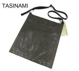 【TASINAMI】タシナミ レザー ショルダー バッグ カーキ 日本製 牛革 斜め掛け タグ付き 未使用品 RM2353 【中古】【新古品】