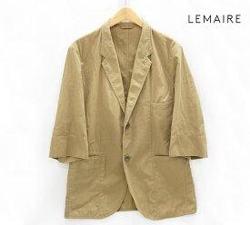 【LEMAIRE】ルメール テーラードジャケット 七分袖 カーキ サイズ46【中古】