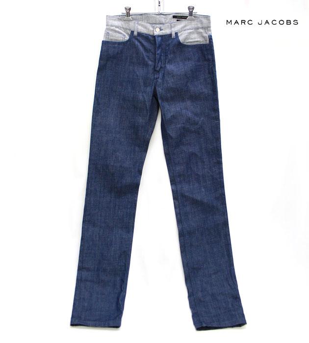 【MARC JACOBS】マーク ジェイコブス デザイン ストレート デニム ジーンズ サイズ46 男性用 メンズ【中古】