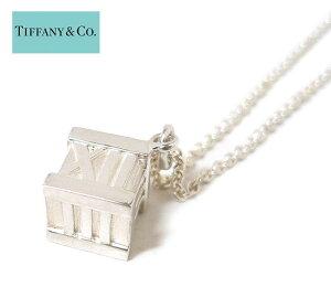 【TIFFANY&Co.】ティファニー アトラスキューブ ネックレス シルバー 925 ペンダント アクセサリー 保存袋 箱付き ON3590【中古】