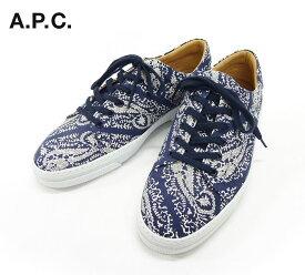 【A.P.C.】アー・ペー・セー アーペーセーTENNIS JEAN A16 スニーカーテニスジーン サイズ43 サイズ27.5cm 靴 青 ブルー【中古】FB0175