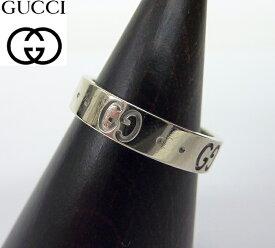【GUCCI】グッチアイコンリング K18WGGGロゴ 指輪 サイズ10号 ホワイトゴールド BOX付 【中古】FF0615