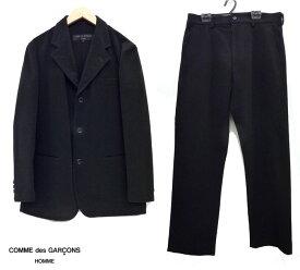 【COMME des GARCONS HOMME】コムデギャルソン オム3Bウールスーツ セットアップサイズS 黒ブラック 男性用 メンズ【中古】FB0500