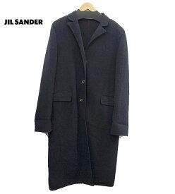 【JIL SANDER】 ジルサンダー チェスターコート 38 ウール モヘヤ混 コート ブラック 黒 【中古】FF1820