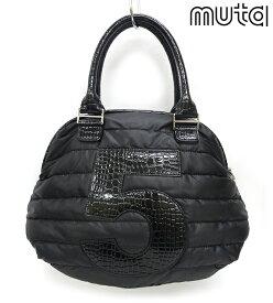【muta】ムータ ナイロン ハンドバッグ 5バッグ Sサイズ 黒 ブラック 保管袋付き ショルダーバッグ【中古】FB1277