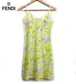 【FENDI】フェンディ キャミワンピース サイズ38キャミソール ワンピース ライトグリーン FA0361【中古】