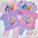 ヒーリングっどプリキュア 光る2TOPSパジャマa 100cm 110cm 120cm展開 半袖も長袖もダブルで光る 長袖パジャマ