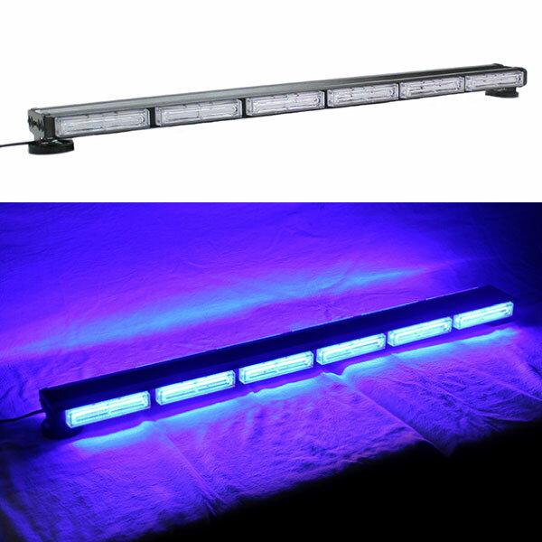 LED 回転灯 パトライト バータイプ 青★全長96cm★COBチップ採用で鮮やか!取付も強力磁石で簡単!トラックの警告ランプにも!KM813COB-6S BLUE
