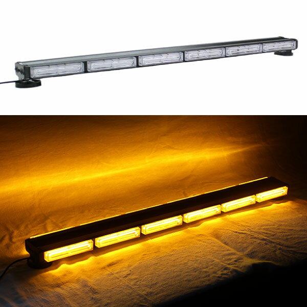 LED 回転灯 パトライト バータイプ アンバー★全長96cm★COBチップ採用で鮮やか!取付も強力磁石で簡単!トラックの警告ランプにも!KM813COB-6S amber