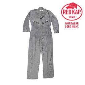 REDKAP CC18 レッドキャップ 長袖 つなぎ【グレー】【XL】のみ前面ジップファスナー・ポケットファスナー付!