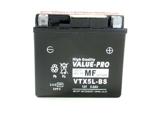 【新品】高性能バッテリー VTX5L-BS ◆ [ホンダ:〜125] スペイシー100[JF13] リード100[JF06] NSR125[JC20] YTX5L-BS FTX5L-BS GTX5L-BS 他互換