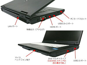 [F101AX]富士通LIFEBOOKA572/E(Corei53320M2.6GHz4GB250GBDVDマルチWindows10Pro64bit)