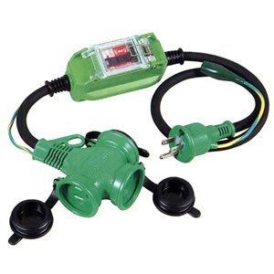 日動工業 防雨延長ブレーカ(アース付) PBW-EK-T 漏電遮断 過負荷・漏電保護兼用