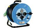 日動 電工ドラム 防雨屋外型 アース漏電しゃ断器付 30M NPW-EB33 ブレーカー付きコードリール