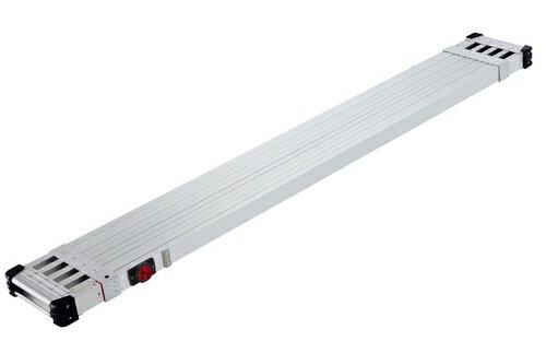 送料無料!(大型商品につき沖縄・離島発送不可)長谷川(Hasegawa) スノコ式伸縮足場板 スライドステージ SSF1.0-400 両面使用タイプ 4.0M