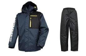 HUMMER(弘進ゴム) HM-3300 防水X防寒レインスーツ ダークネイビー 上下セット パンツは黒色 ハマー サイズM カッパ ジャンパー