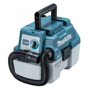 マキタ(makita) 18V 充電式集じん機 VC750DZ 本体のみ(バッテリ・充電器別売) 乾湿両用 伸縮ホース・ワイドノズル・サッシノズル・ショルダーベルト付