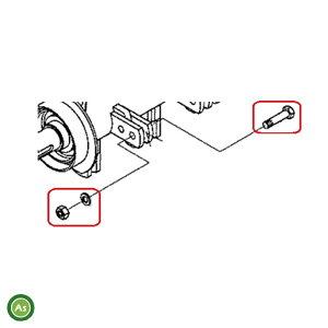 コバシ 純正部品 フレールモア FM用 爪取付ボルト(0050022) 1本