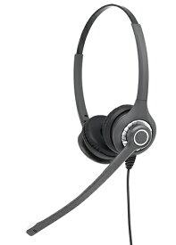 GENETIVE HD028NDW 両耳、固定電話 ヘッドセット、コールセンター ヘッドセット、業務用ヘッドセット、ビジネスフォン、ビジネスホン、アンプなしで接続タイプ、NTT、NEC、サクサ、パナソニック、Cisco、USB・3.5mm QDケーブル接続可能(HD027ND/HD027NDXの後継モデル)