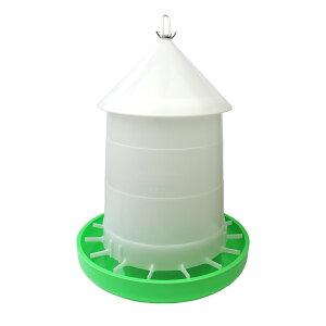 【(屋根付き)給餌量調節機能付き】鳥用自動給餌器 容量8kg 【ニワトリ・ウコッケイ・キジ類用】