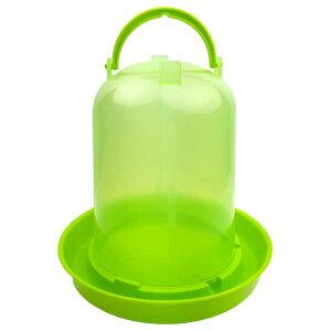 【チャボ ウコッケイ】鳥用自動給水器 容量3L(緑スケルトン)【ニワトリ キジ類用】