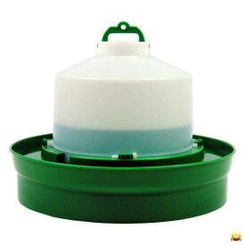 【給水口付】自動給水器 5L(高受皿) 【ニワトリ キジ類用】